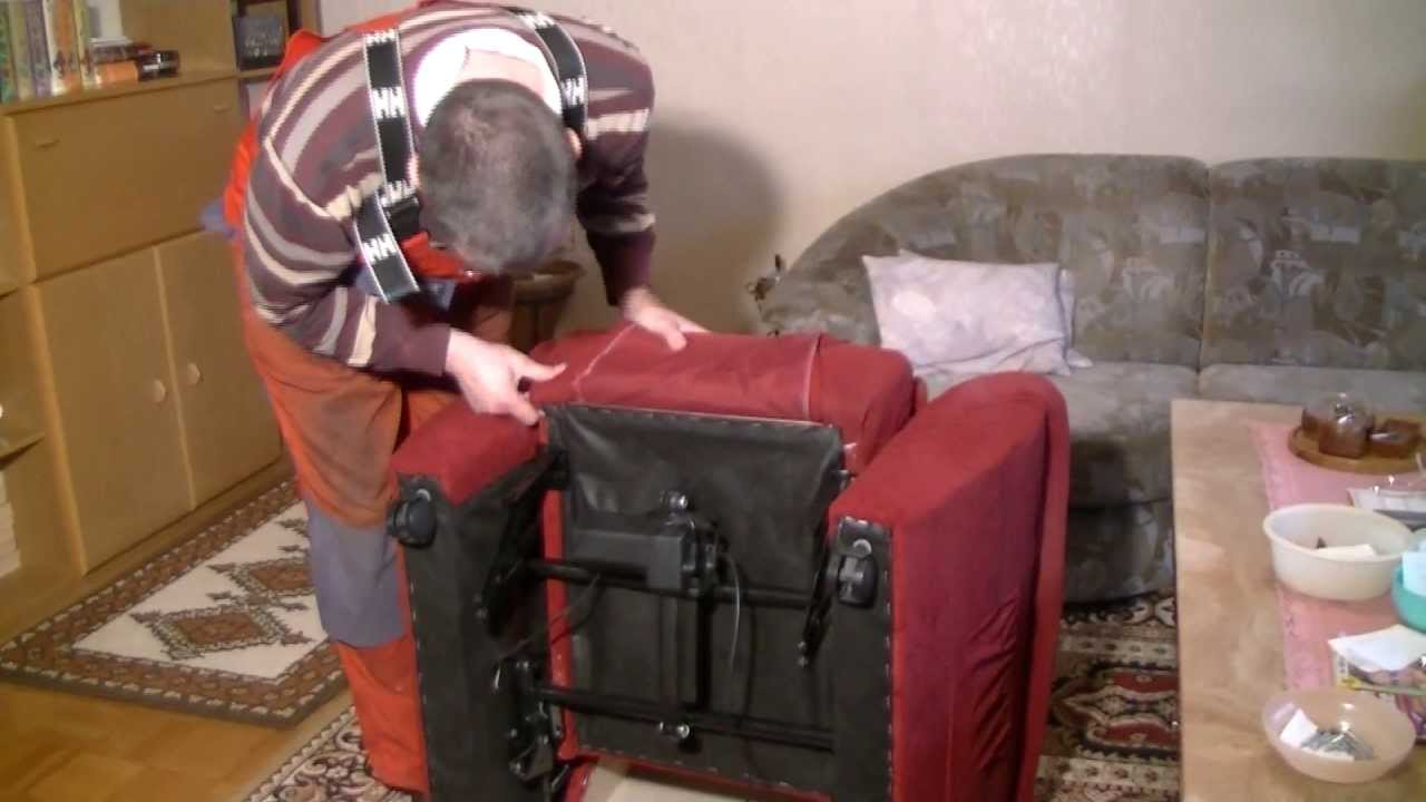 Repairing an electric recliner - YouTube
