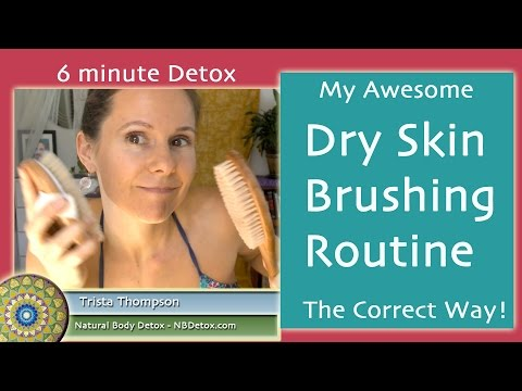 Dry Skin Brushing the Correct Way - 6 min Routine for Face & Body