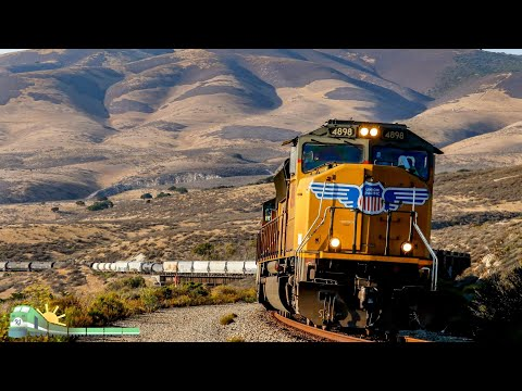 TRAINS on Parade!  RARE FOOTAGE- UP  detours up the Californ