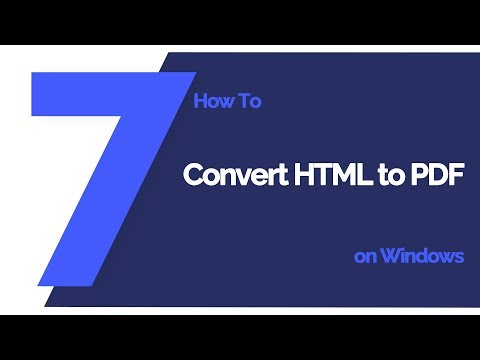 How To Convert HTML To PDF On Windows | PDFelement 7