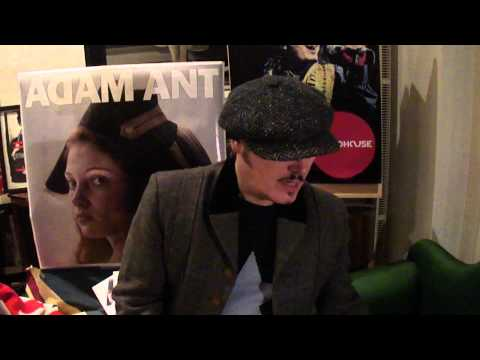 Adam Ant introduces his new album: Adam Ant is The BlueBlack Hussar In Marrying The Gunners Daughter