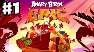 Angry Birds Epic - Gameplay Walkthrough Part 1 - Red and Chuck at Piggy Island (iOS, Android)
