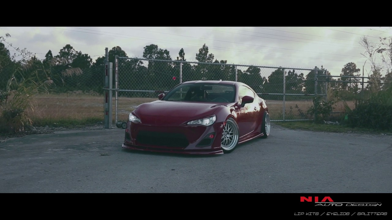 scion frs with nia splitter eyelids and sides youtube. Black Bedroom Furniture Sets. Home Design Ideas