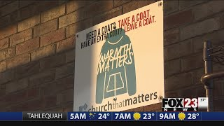 Sand Springs church puts out coats for people in need