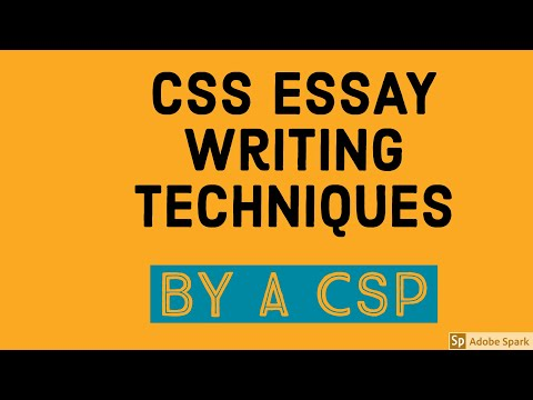 How to Write CSS Essays?