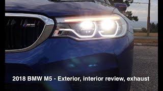 2018 BMW M5 - Exterior, interior review, exhaust