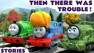 Thomas and Friends Trouble Accidents Pranks with Paw Patrol and Play Doh | Halloween and Tom Moss