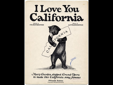 I Love You California song and Inspired Tee