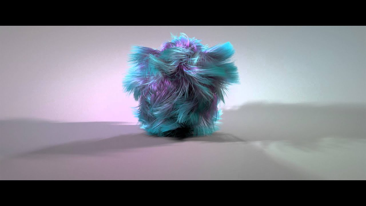 cinema 4d dynamic fur ball test youtube. Black Bedroom Furniture Sets. Home Design Ideas
