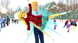 Игры для девочек. Барби и Кен - свидание на катке. Мультик Барби