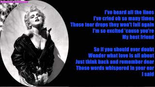 Madonna - True Blue (Lyrics On Screen)