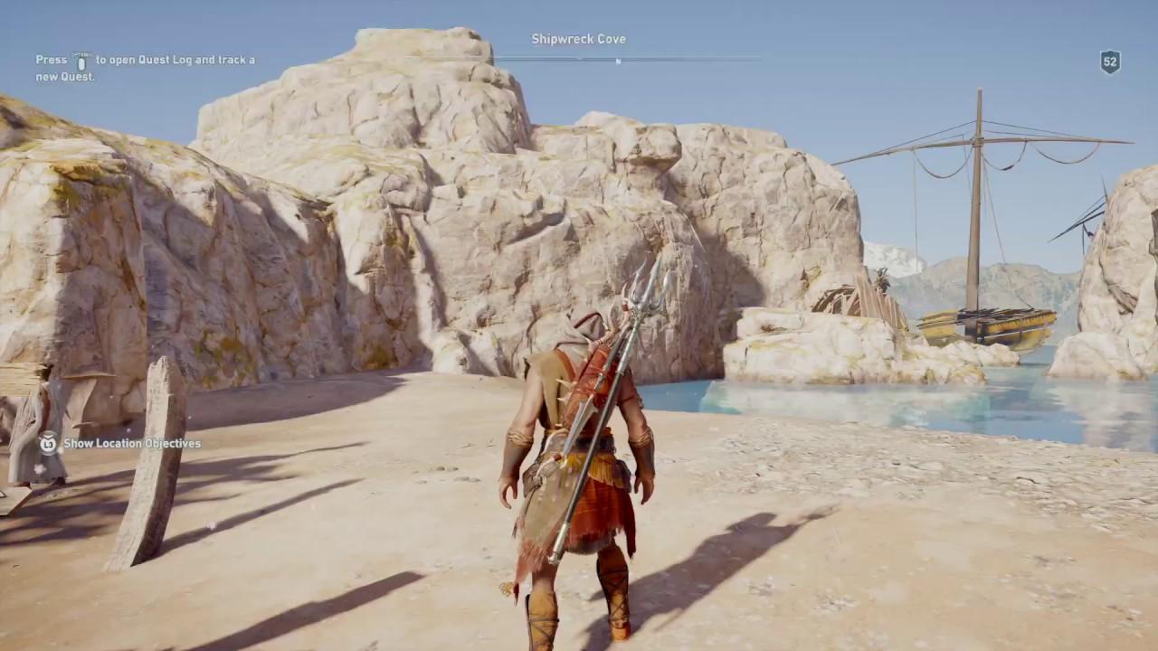 Ac Odyssey Shipwreck Cove Cultist Clue Youtube