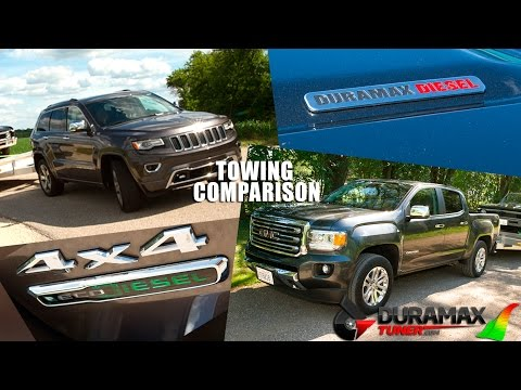 2 8l Duramax Versus 3 0l Jeep Ecodiesel Towing Comparison By Duramaxtuner Com Youtube