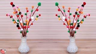WOW!!! Beautiful Flower Vase Making at Home || Handmade Things || DIY || Wool Craft