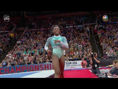 Simone Biles Showcases Her Technique In Her Floor Routine   Summer Champions Series