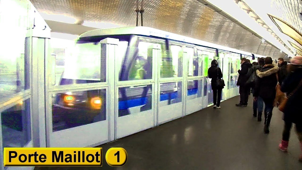 Porte maillot ligne 1 m tro de paris ratp mp05 for Porte maillot in paris