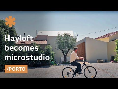 From Cramped Hayloft To Tiny, Daylit Modern Studio In Porto