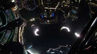 Dancing Fountains At Burj Khalifa Dubai UAE At Night From Top