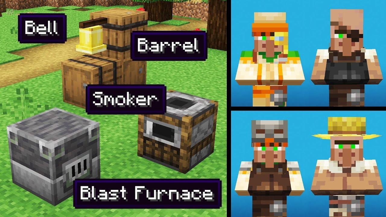 NEW VILLAGERS & Block CHANGES! (Minecraft 12.124 Snapshot Update 128w12a)