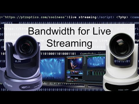 Bandwidth for Live Streaming & IP Video Production