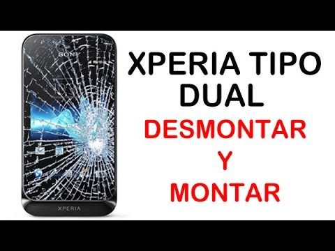 Sony Xperia Tipo Dual Desmontar y Montar (disassembly and assembly)