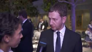 Neujahrsempfang der Leipziger Wirtschaftsregion 2018: Sächsischer Ministerpräsident M. Kretschmer