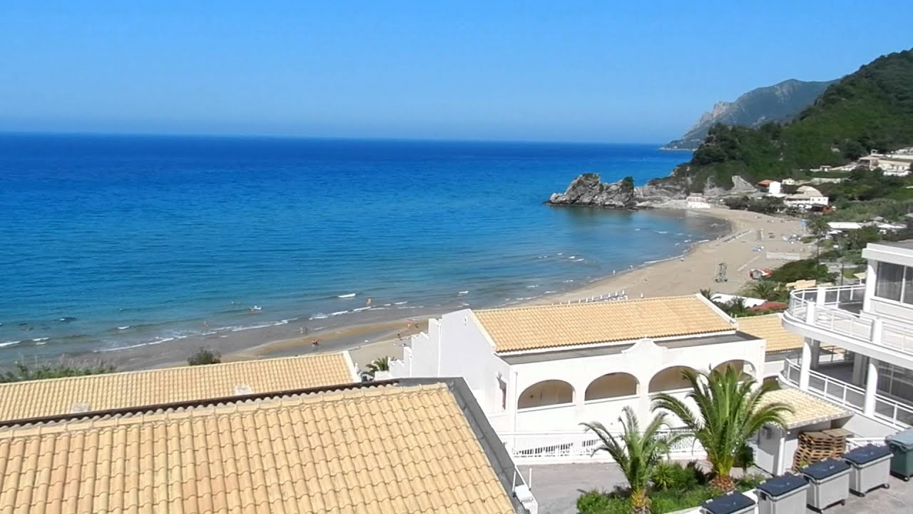 Hotel Aquis Pelekas Beach Corfu Youtube