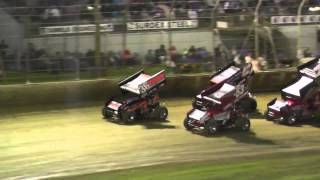 World Series Sprintcars Round 5 Crashes @ Warrnambool 1-1-15