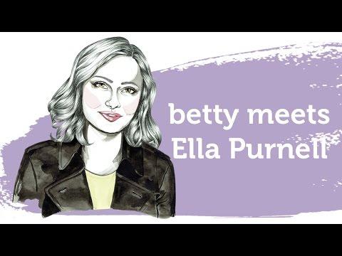 betty meets Ella Purnell, star of Miss Peregrine