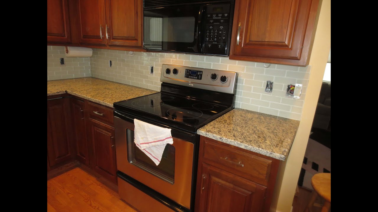 How to install a glass tile kitchen backsplash part 1 - How to replace backsplash ...