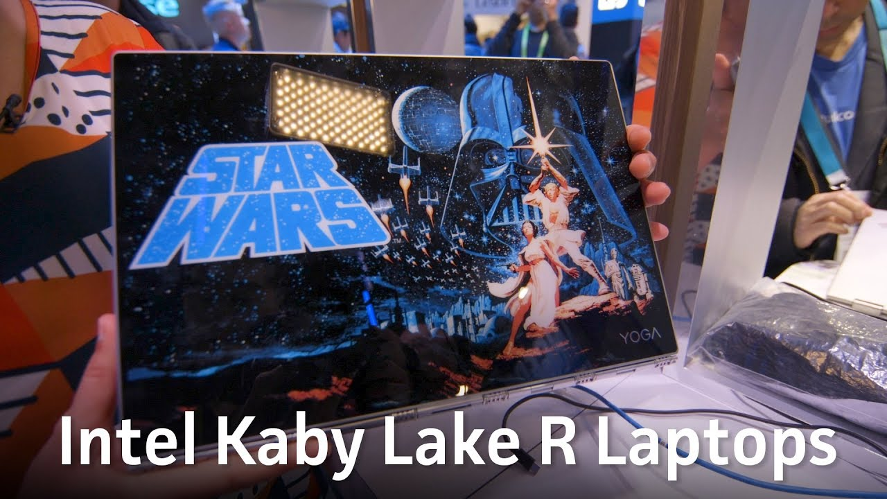 CES 2018: Intel showcases Kaby Lake R laptops - YouTube