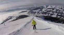 Skiing in Villars-sur-Ollon, Switzerland 2018
