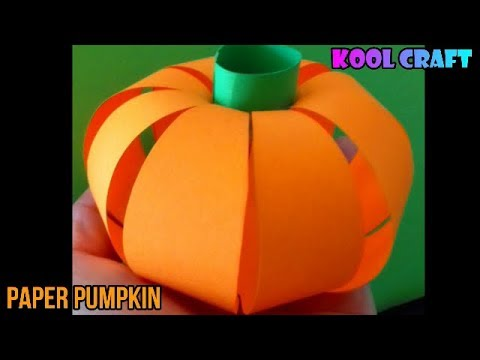DIY  Paper PUMPKIN for Halloween (2018) 🎃🎃 Easy DIY Paper Crafts 🎃🎃