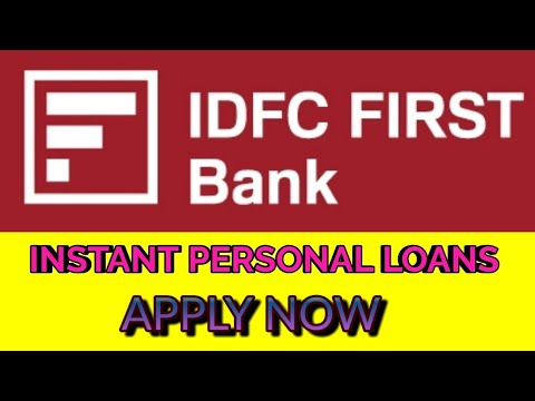 Idfc First Bank Instant Personal Loan In Just 2 Min Up To 25lac Youtube