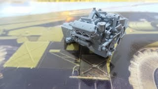БМ-21''ГРАД'' ZVEZDA 1/35. Збірка двигуна.