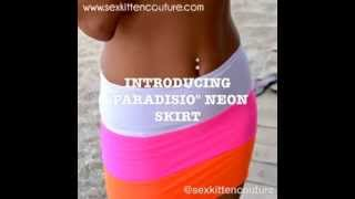 Paradiso Neon Skirt by Sex Kitten Couture