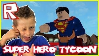 Super Hero Tycoon - SUPERMAN SAVES THE DAY | Roblox