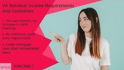 VA Residual Income Requirements And Guidelines