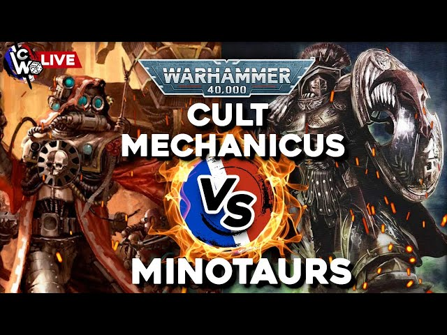 RAPPORT DE BATAILLE WARHAMMER 40.000 - Cult mechanicus VS Minotaurs (FW) - 1500pts en live