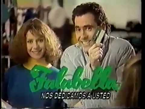 FALABELLA  CHILE CON CLAUDIA DE GIROLAMO Y CRISTIAN CAMPOS   TV  CHILENA  1986 Y 1987