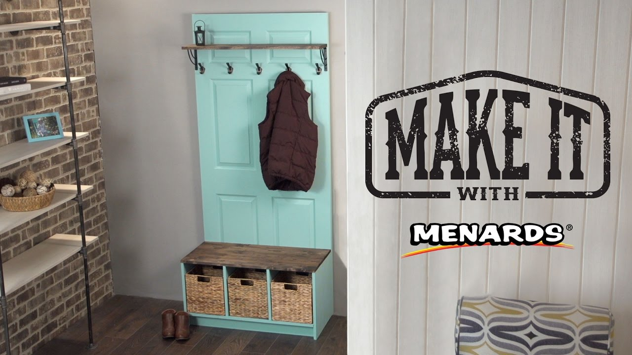 & Door Hall Tree - Make It With Menards - YouTube