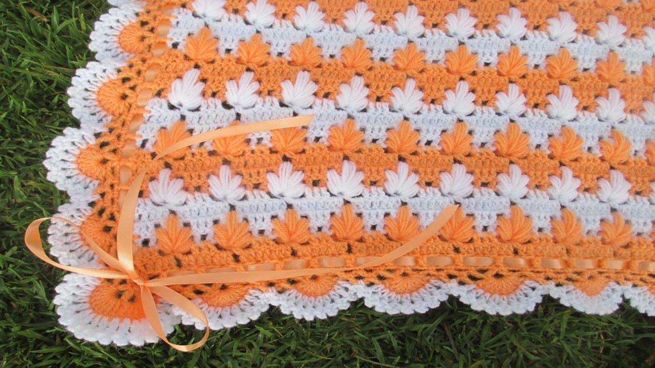 colchita o mantita para bebe tejido a crochet paso a paso video 3 ...