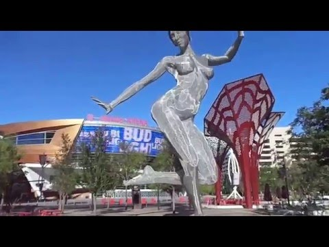 T Mobile Arena , The Park. Las Vegas Strip early morning walk through 2016