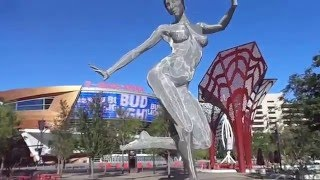 T Mobile Arena , The Park. Las Vegas Strip early morning walk through 2016