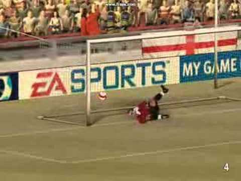Fifa 07 goal Louis Saha from miles out