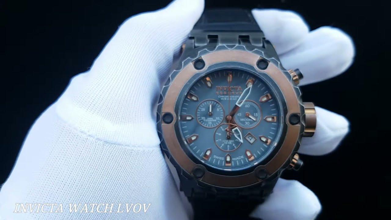 Мужские швейцарские часы Invicta Reserve 18455 Swiss Made - YouTube ffeb441c999