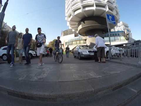 Walking in Kiev. (filmed by GoPro 4 + Feiyu FY G4)