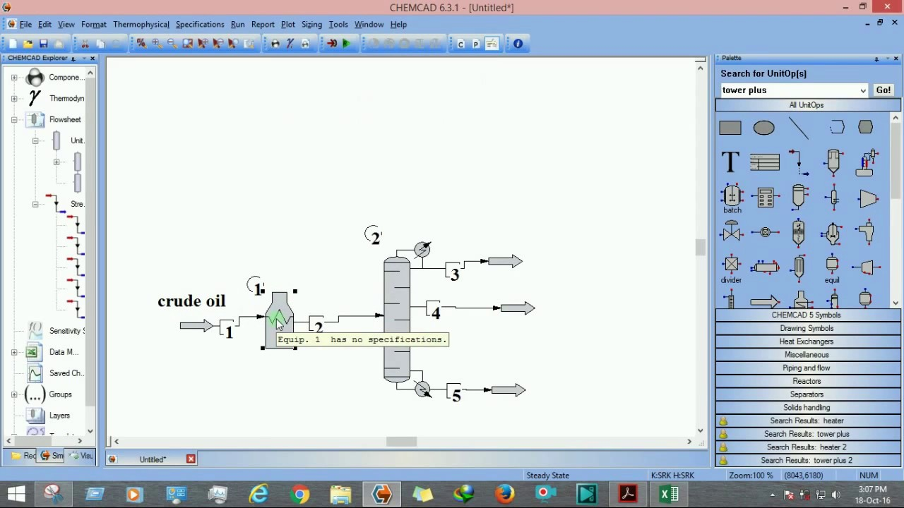 How to transfer data from CHEMCAD plots to EXCEL?
