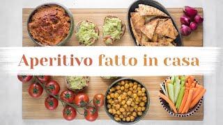 COME PREPARARE UN APERITIVO GUSTOSO E FACILE IN CASA - 4 idee vegetali | Elefanteveg