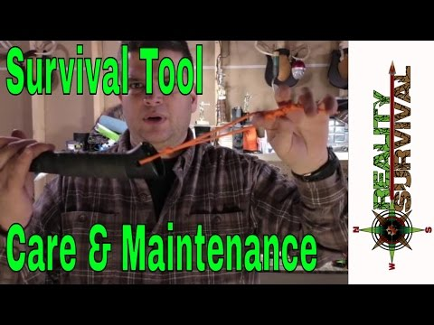 Survival Tool Care and Maintenance and Merry Christmas